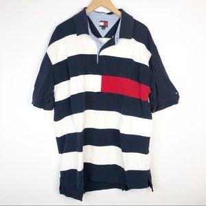 Tommy Hilfiger Striped Flag Polo